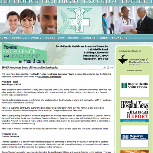 South Florida Healthcare Executive Forum- Website